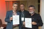 Winner of Best Paper Award: Wouter de Haan and Bert van Zomeren. Distributor of prize: Sören Berglund, CIO, Umeå University