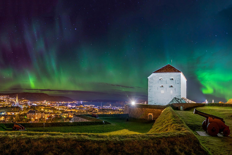 Aurora Borealis over Trondheim - copyright: Aziz_Nasuti